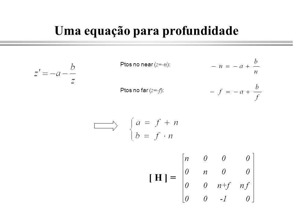 Uma equação para profundidade