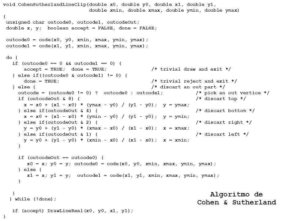 Algoritmo de Cohen & Sutherland