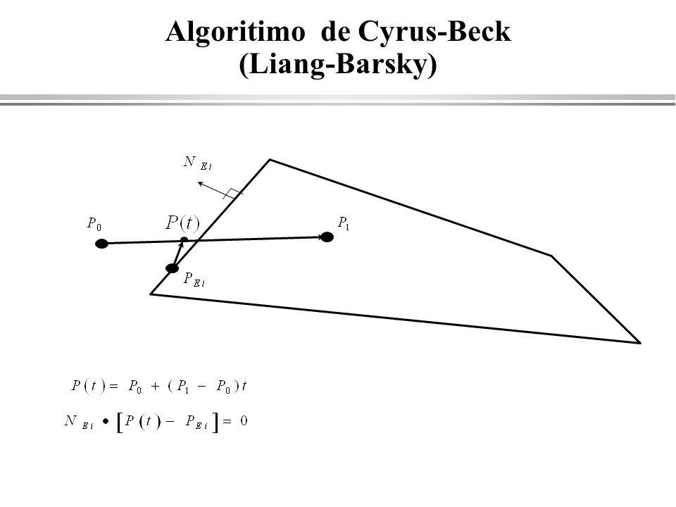 Algoritimo de Cyrus-Beck (Liang-Barsky)