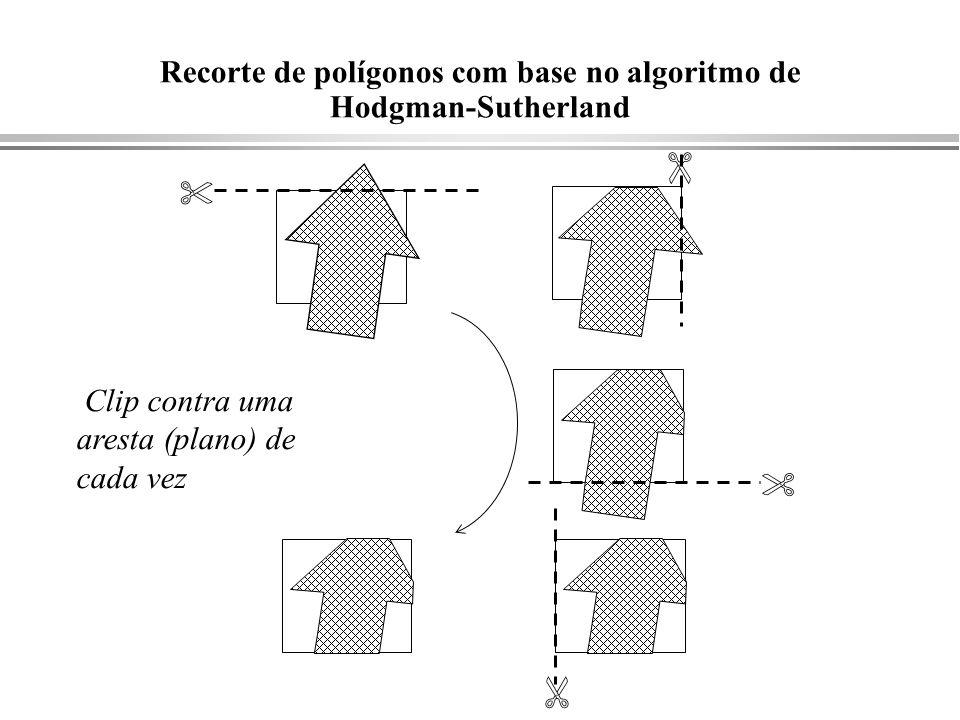 Recorte de polígonos com base no algoritmo de Hodgman-Sutherland