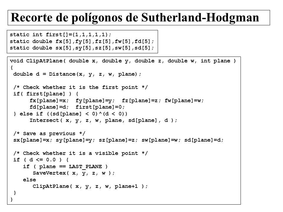 Recorte de polígonos de Sutherland-Hodgman