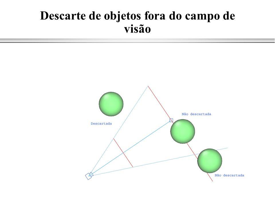 Descarte de objetos fora do campo de visão