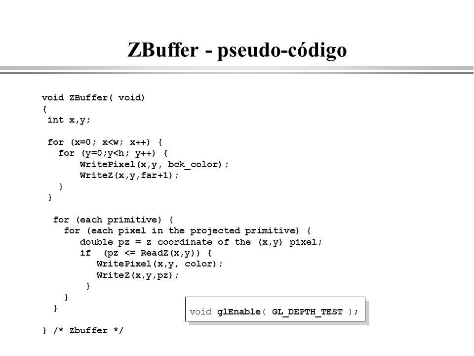 ZBuffer - pseudo-código