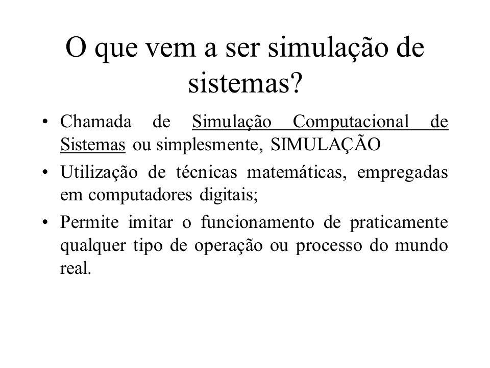 O que vem a ser simulação de sistemas