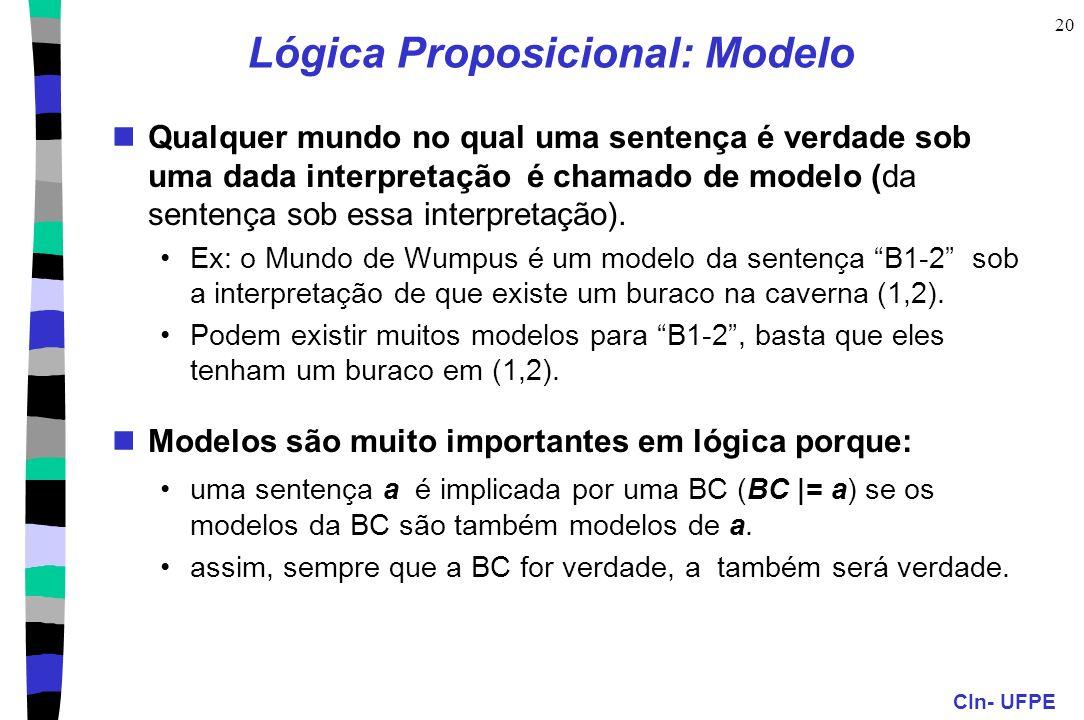 Lógica Proposicional: Modelo