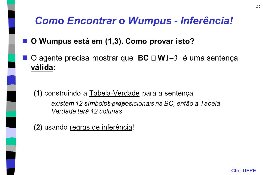 Como Encontrar o Wumpus - Inferência!