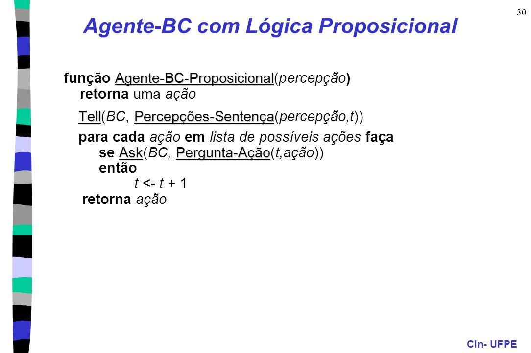 Agente-BC com Lógica Proposicional