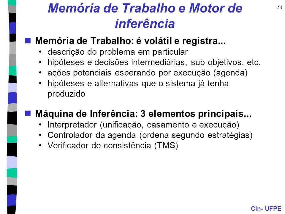 Memória de Trabalho e Motor de inferência