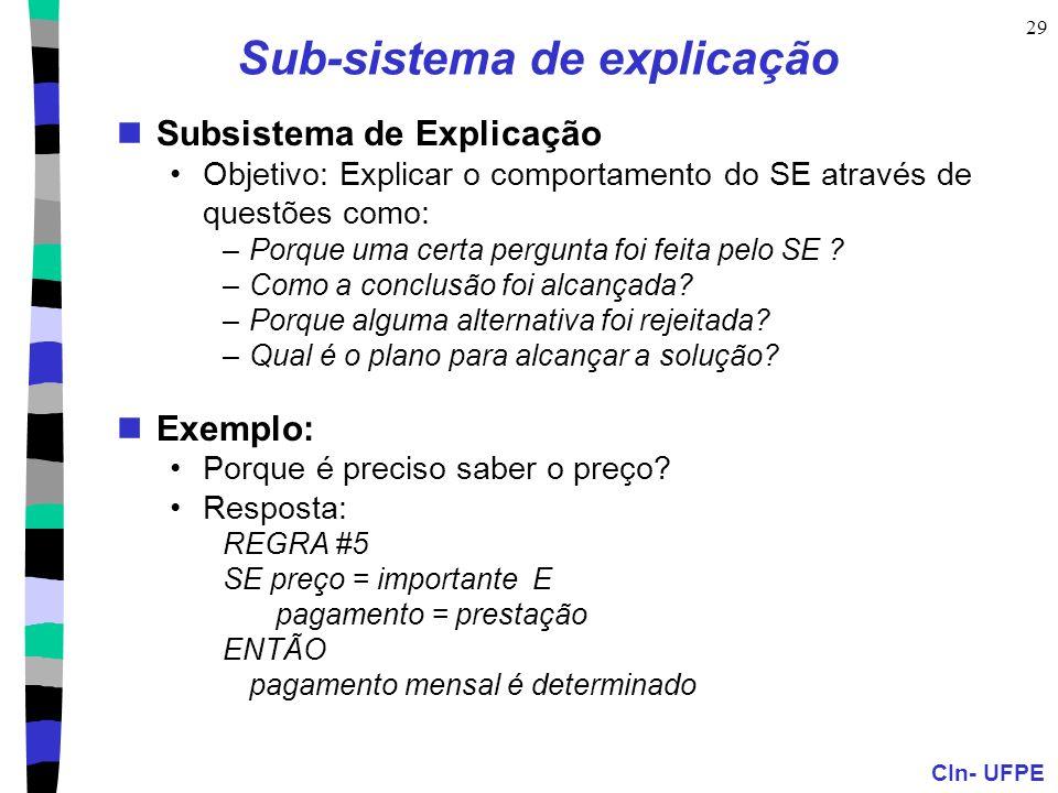 Sub-sistema de explicação