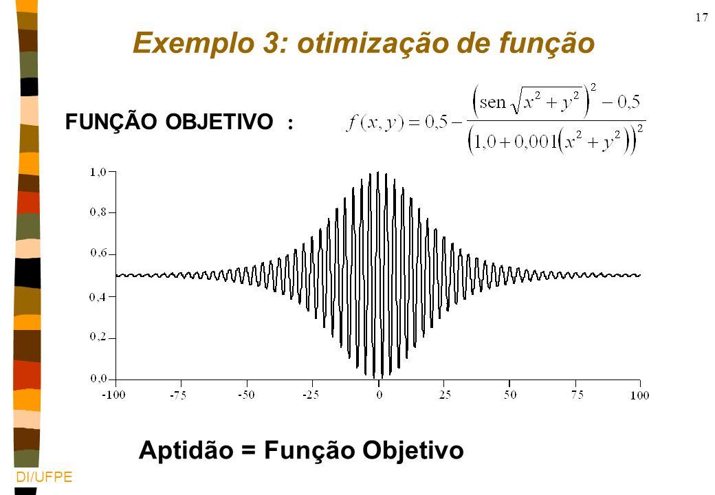 Exemplo 3: otimização de função