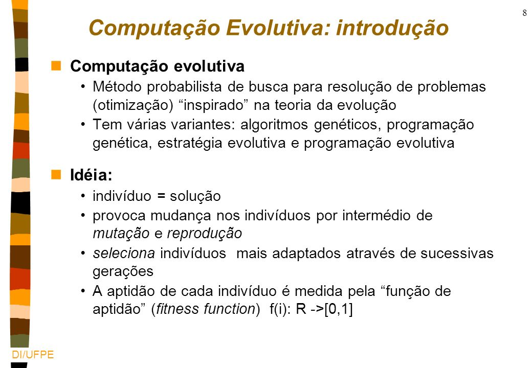 Computação Evolutiva: introdução