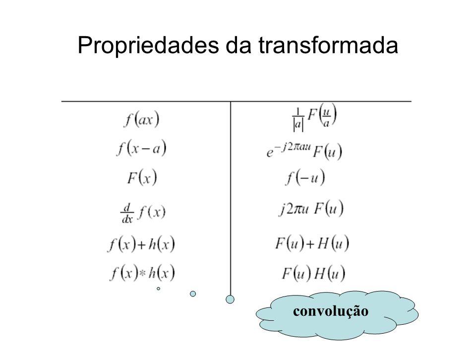 Propriedades da transformada