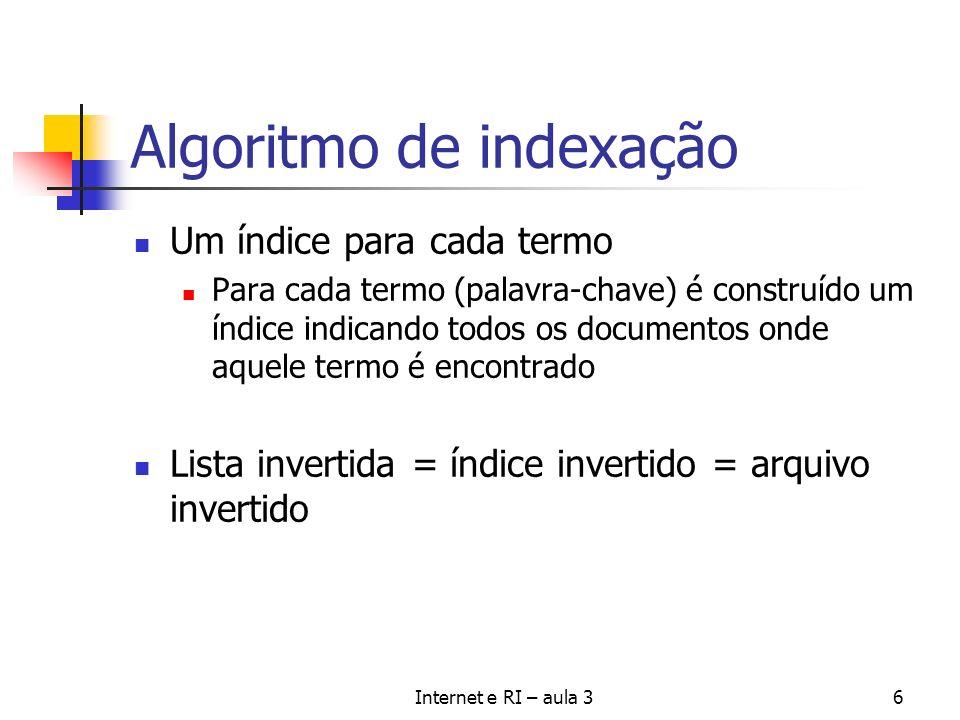 Algoritmo de indexação