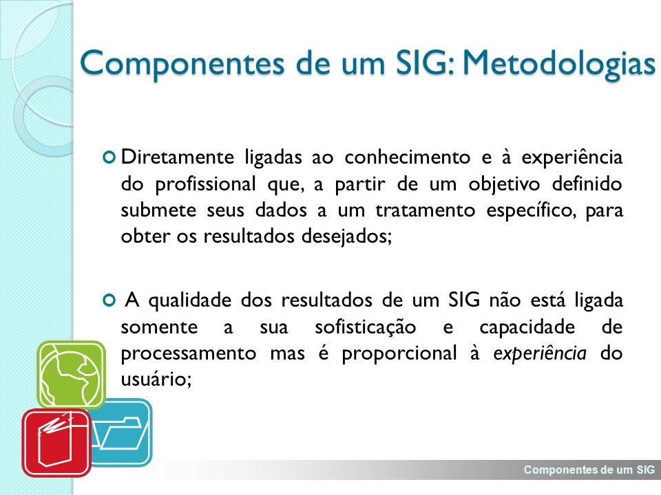 Componentes de um SIG: Metodologias