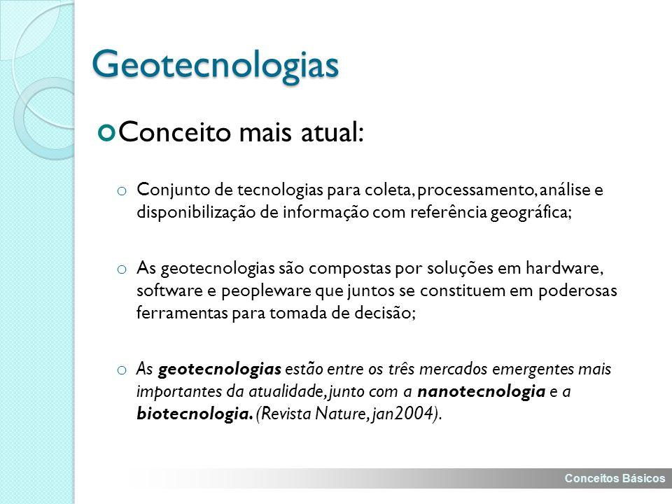 Geotecnologias Conceito mais atual: