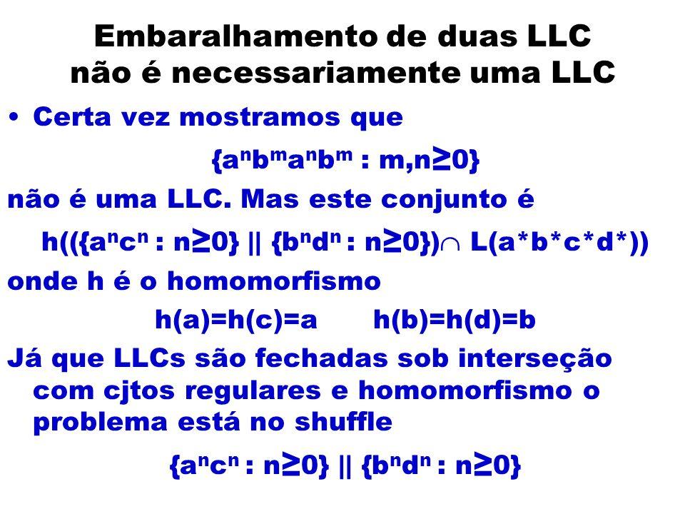 Embaralhamento de duas LLC não é necessariamente uma LLC