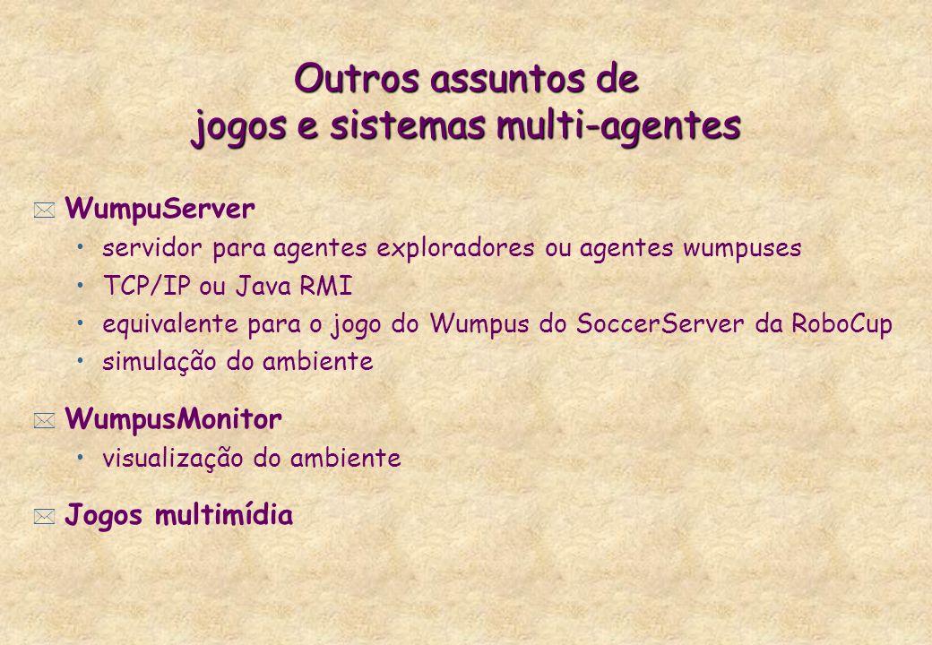 Outros assuntos de jogos e sistemas multi-agentes