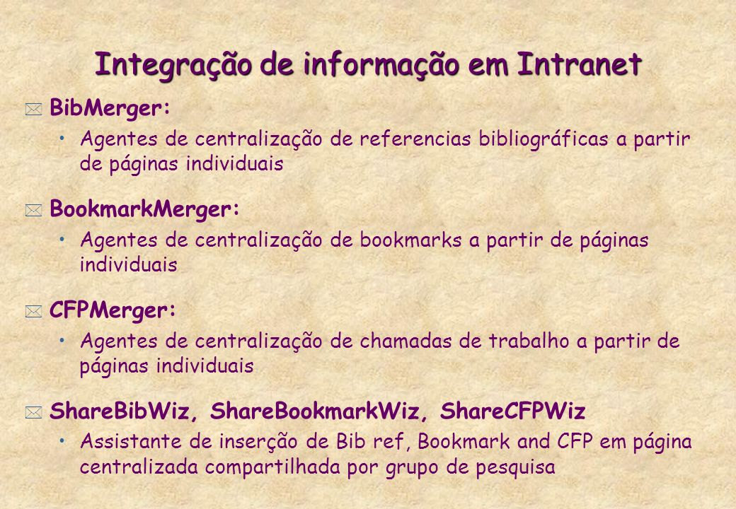 Integração de informação em Intranet