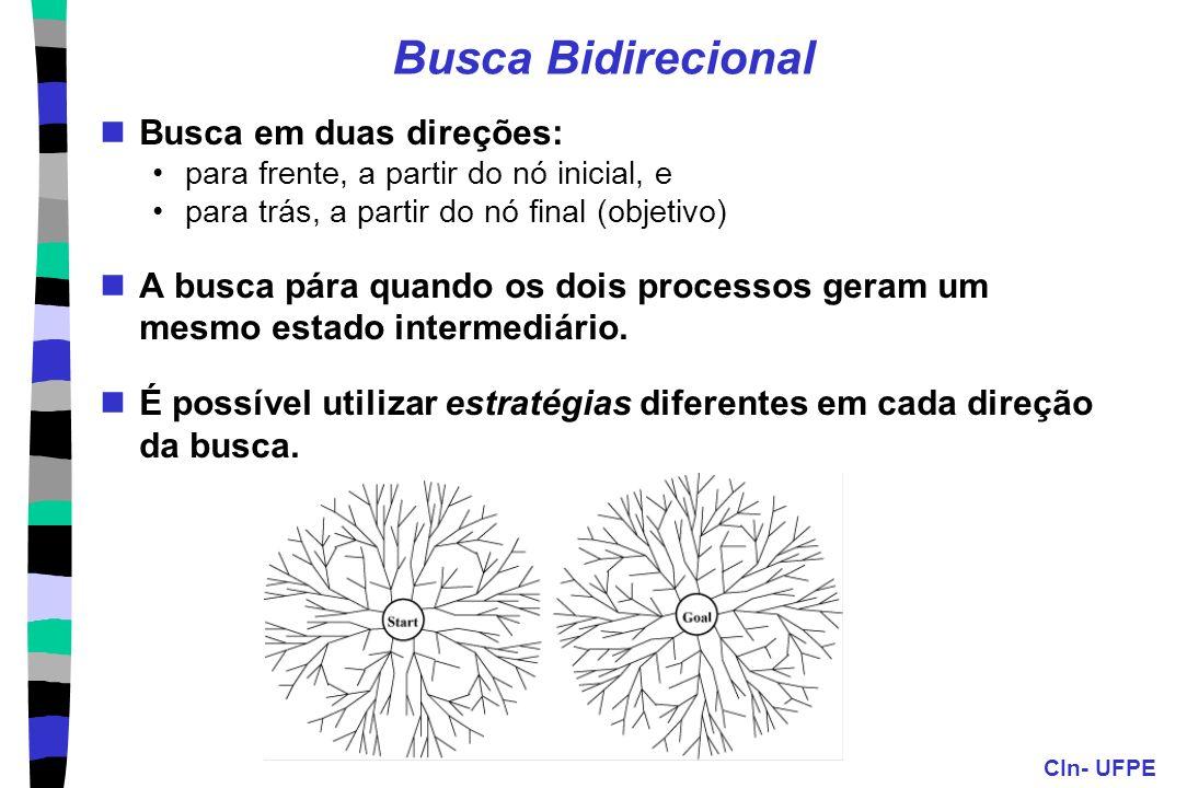 Busca Bidirecional Busca em duas direções: