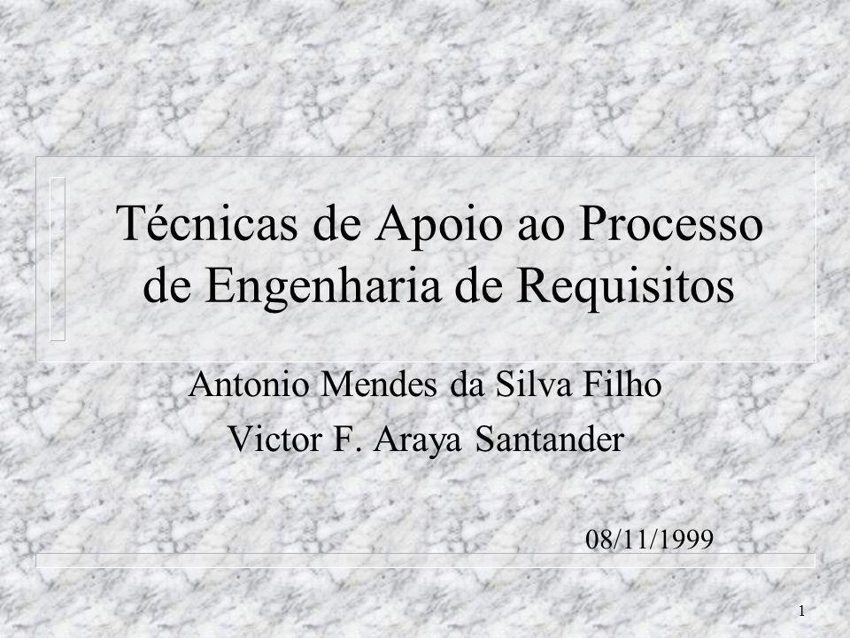 Técnicas de Apoio ao Processo de Engenharia de Requisitos