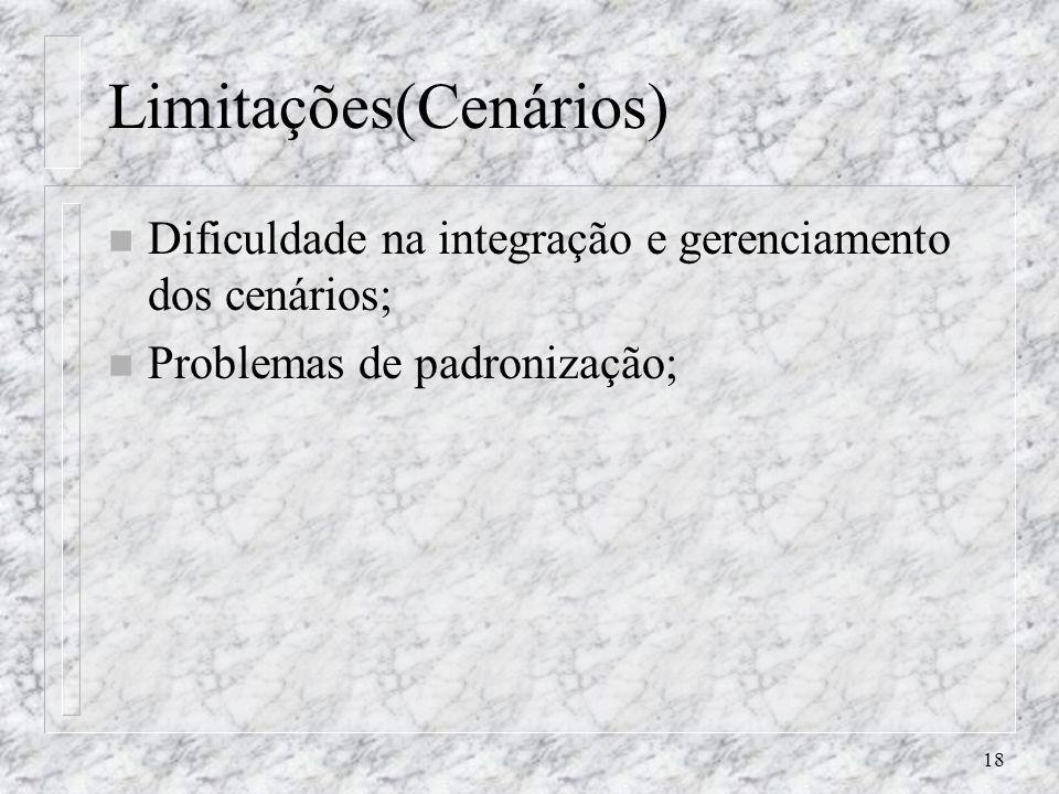 Limitações(Cenários)