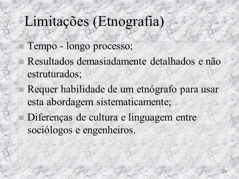Limitações (Etnografia)