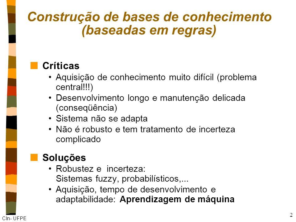 Construção de bases de conhecimento (baseadas em regras)