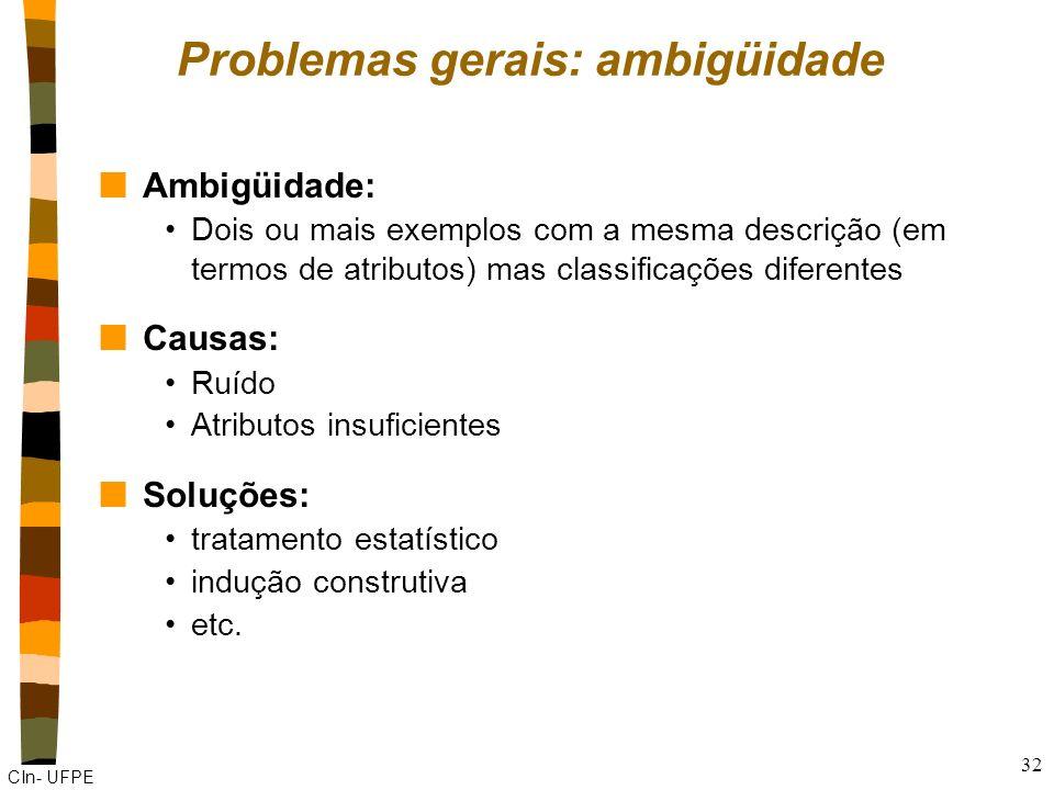 Problemas gerais: ambigüidade