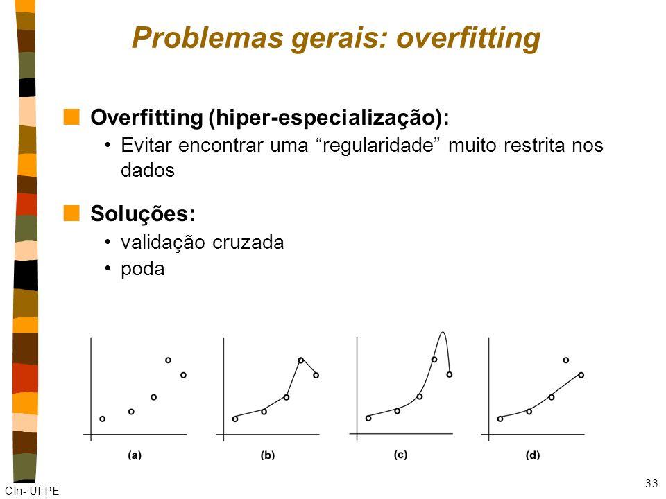 Problemas gerais: overfitting