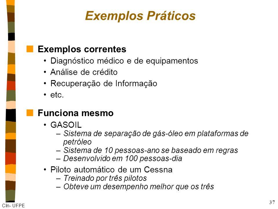 Exemplos Práticos Exemplos correntes Funciona mesmo
