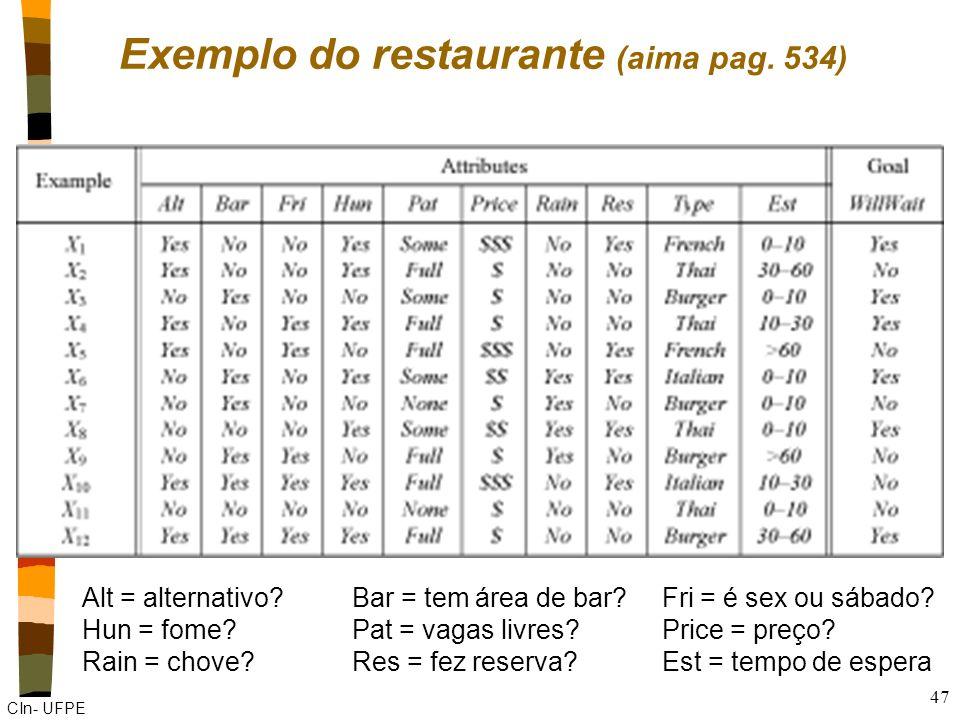Exemplo do restaurante (aima pag. 534)