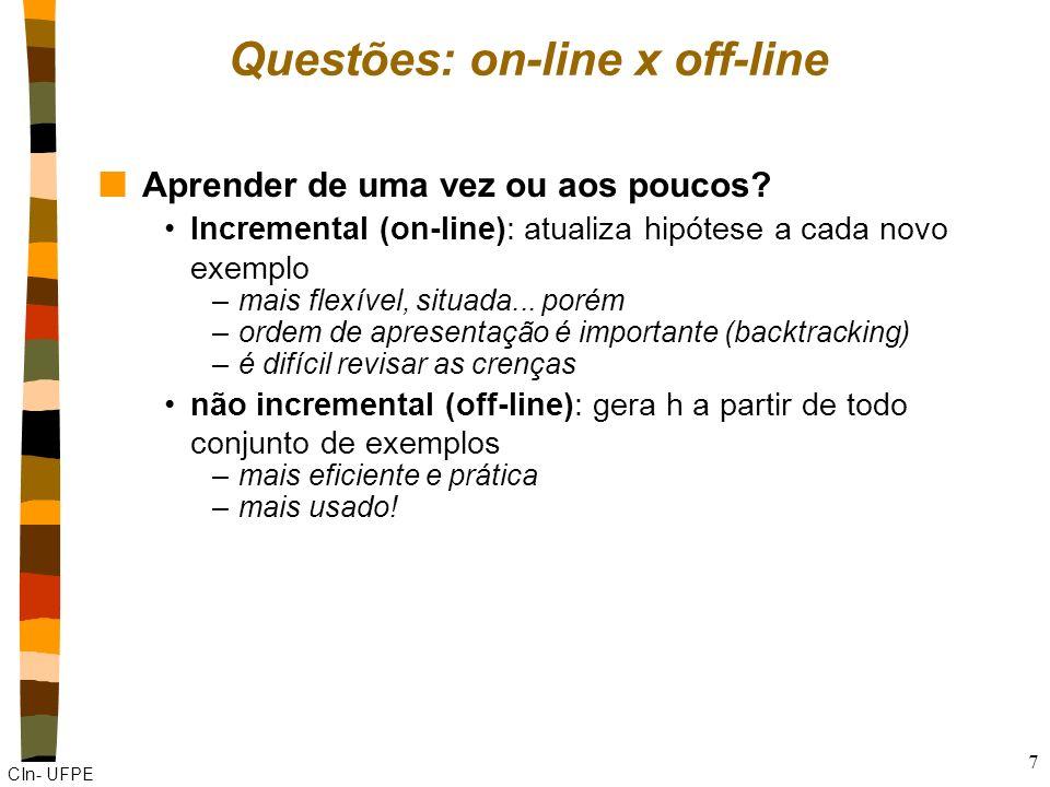 Questões: on-line x off-line