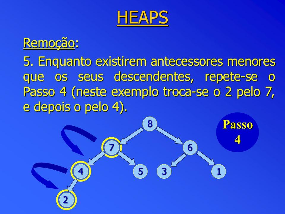 HEAPS Remoção: