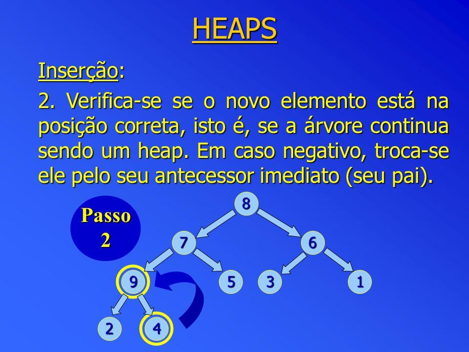 HEAPS Inserção: