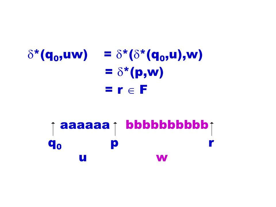 *(q0,uw) = *(*(q0,u),w) = *(p,w) = r  F. aaaaaa bbbbbbbbbb.