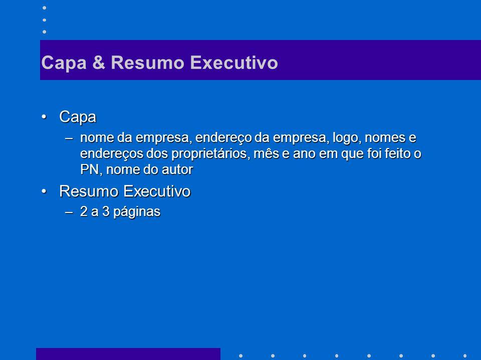 Capa & Resumo Executivo