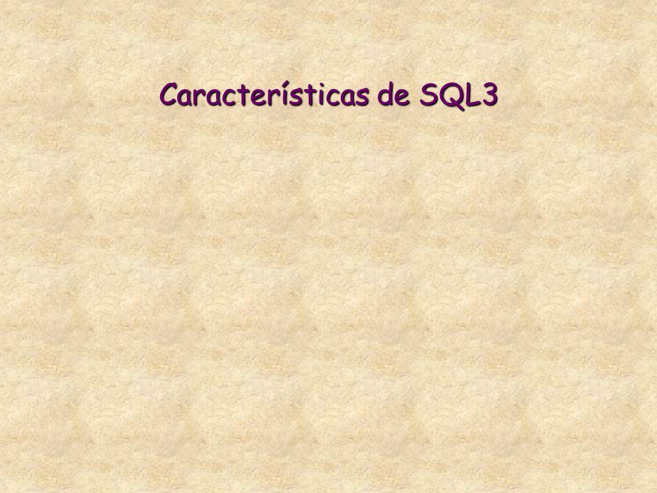 Características de SQL3