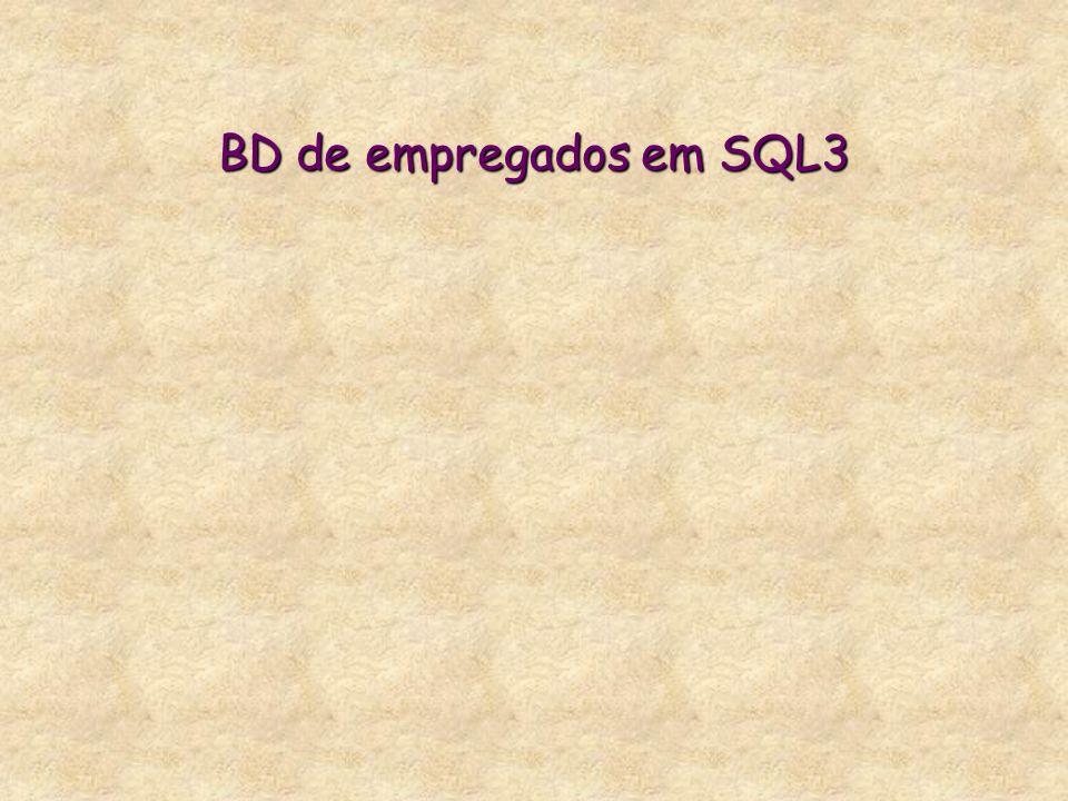 BD de empregados em SQL3