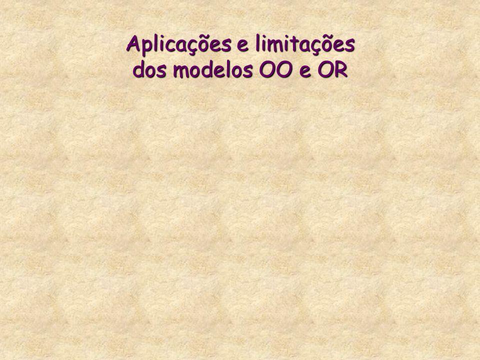 Aplicações e limitações dos modelos OO e OR