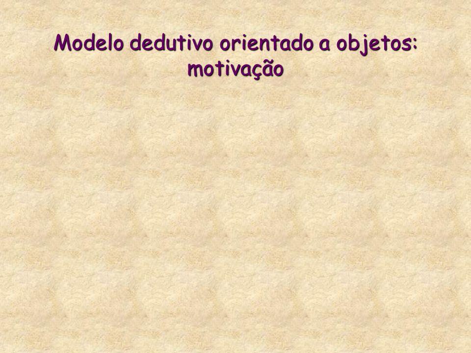 Modelo dedutivo orientado a objetos: motivação