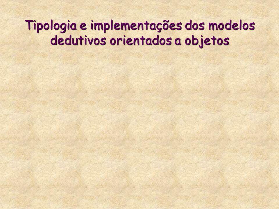 Tipologia e implementações dos modelos dedutivos orientados a objetos