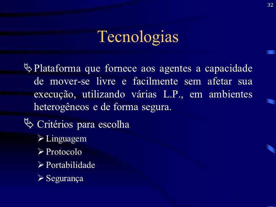 Tecnologias Critérios para escolha
