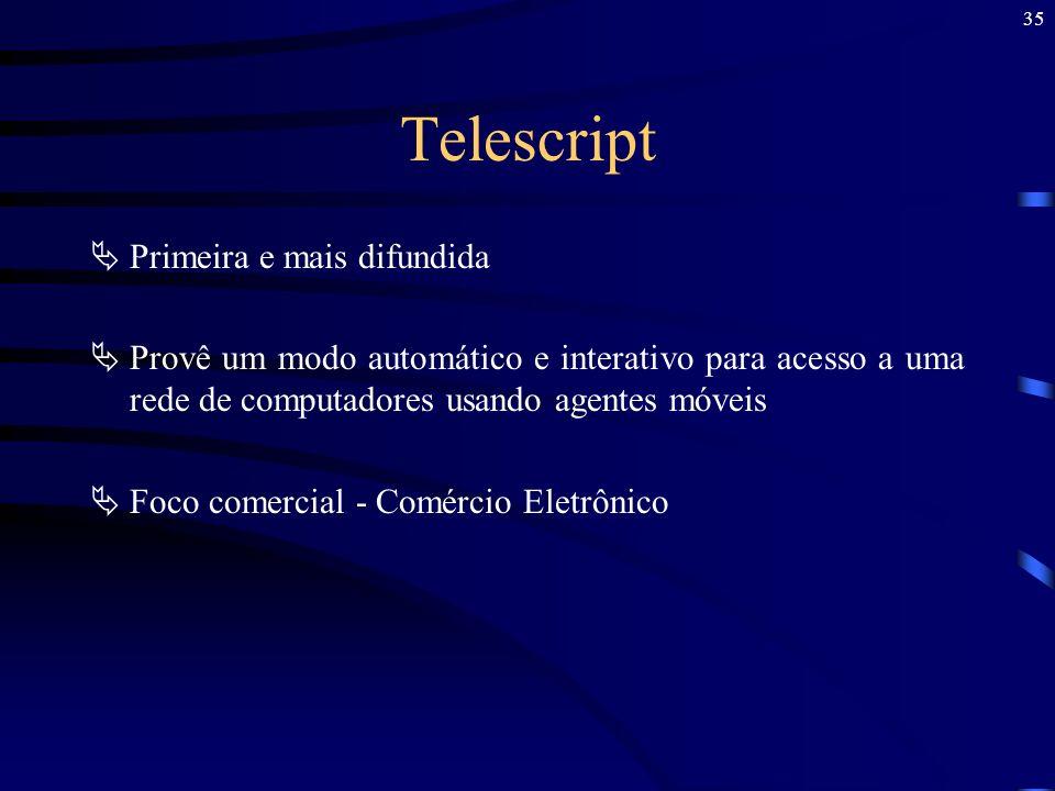 Telescript Primeira e mais difundida