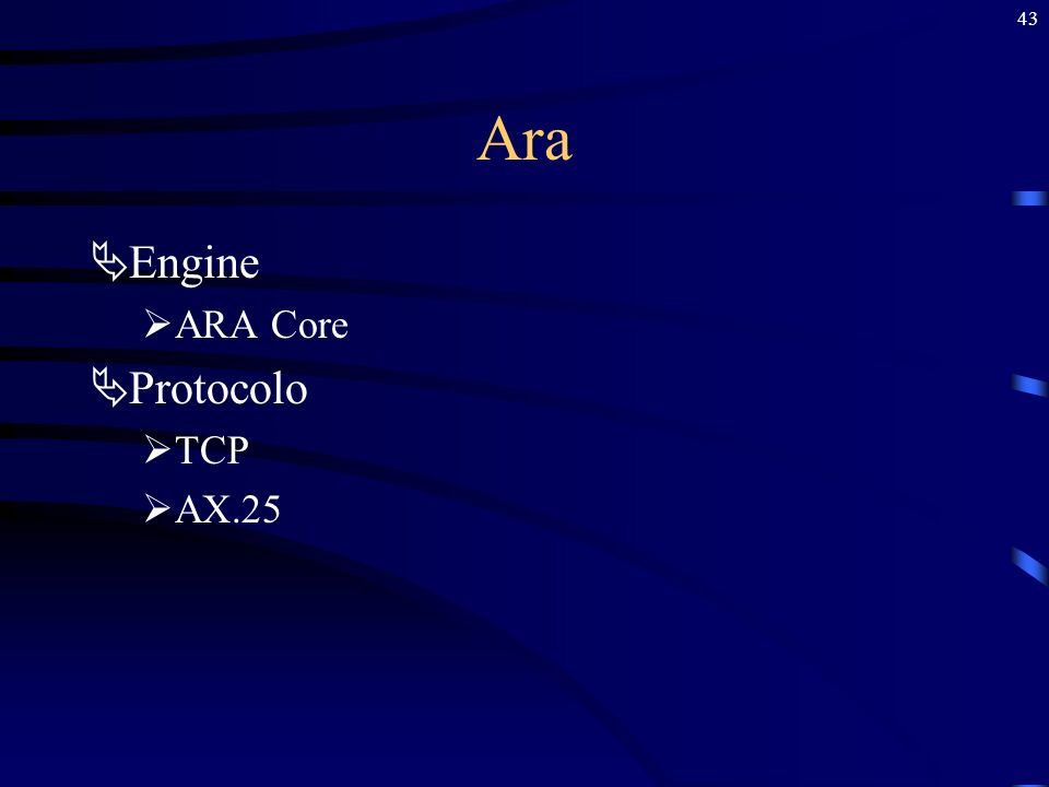 Ara Engine ARA Core Protocolo TCP AX.25