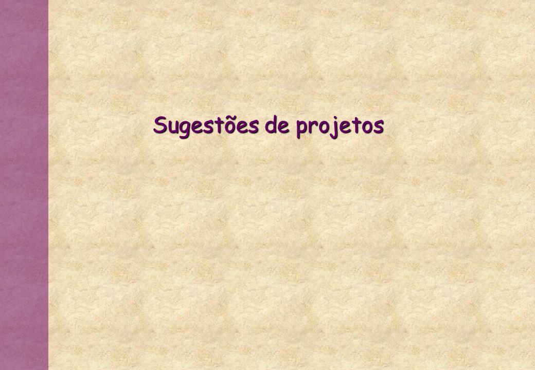 Sugestões de projetos