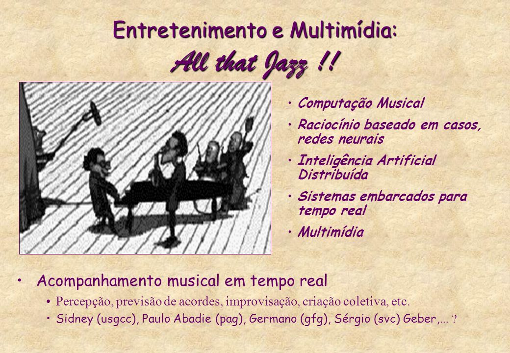 Entretenimento e Multimídia: All that Jazz !!