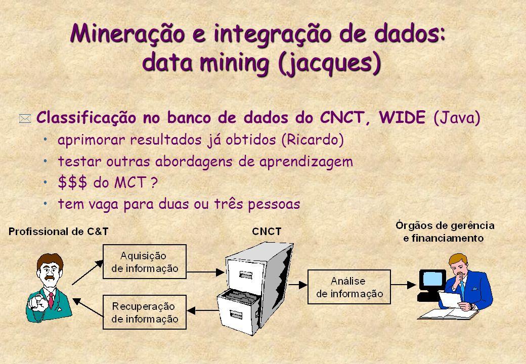 Mineração e integração de dados: data mining (jacques)