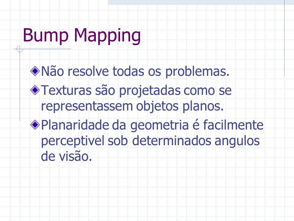 Bump Mapping Não resolve todas os problemas.