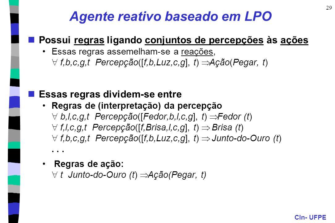 Agente reativo baseado em LPO