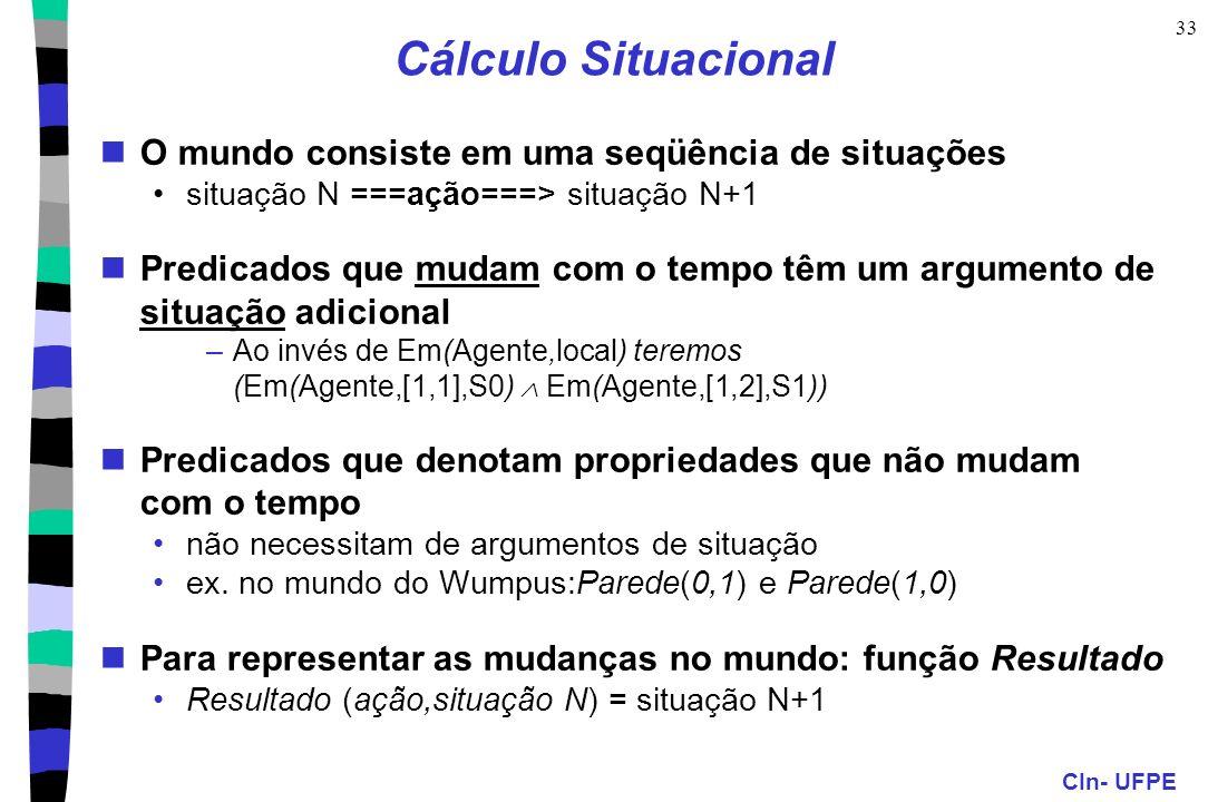 Cálculo Situacional O mundo consiste em uma seqüência de situações